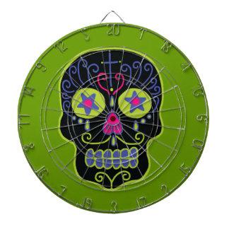 Customizable Black Sugar Skull Dartboards