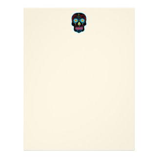 Customizable Black Sugar Skull Custom Letterhead