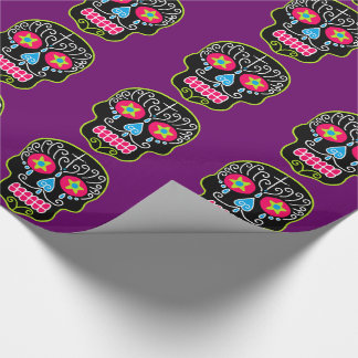 skull wrapping paper See this and similar holiday decorations - all time low santa skull light blue / red two sided wrapping paper dimensions: 20 x 30.