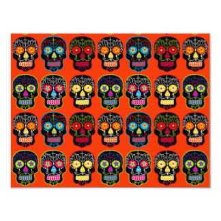 Customizable Black Sugar Skulls Card