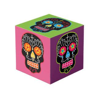 Customizable Black Sugar Skulls Cube