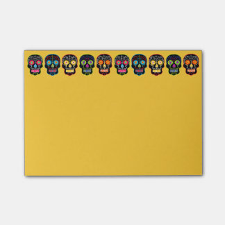 Customizable Black Sugar Skulls Post-it Notes