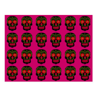 Customizable Black Sugar Skulls Postcard
