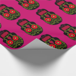 Customizable Black Sugar Skulls Gift Wrap Paper