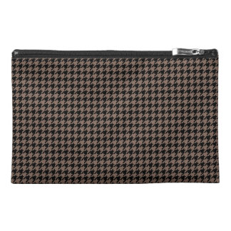 Customizable Black/Taupe Houndstooth Travel Accessories Bag