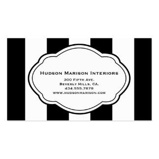 Customizable Black & White Business Card