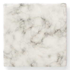 Customizable Black White Marble Stone Finish Stone Coaster
