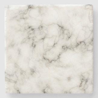 Customizable Black White Marble Stone Finish Stone Coaster