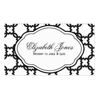 Customizable Black & White Mommy Calling Card Double-Sided Standard Business Cards (Pack Of 100)