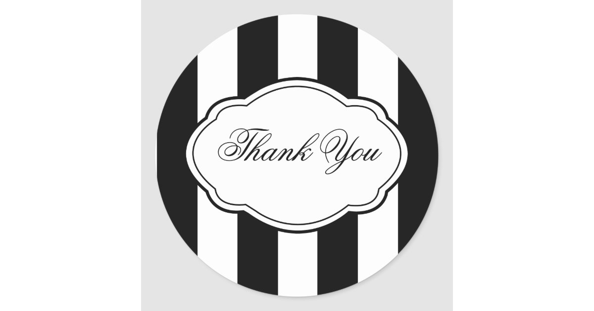 Customizable black white sticker label zazzle com