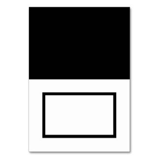 Customizable Black & White Tented Name Place Card