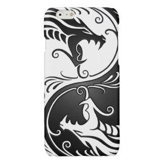 Customizable Black Yin Yang Dragons Glossy iPhone 6 Case
