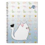 Customizable: Blackbird & kitty Spiral Notebook
