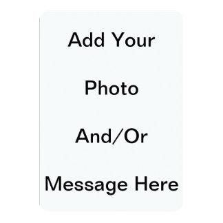 Customizable Blank 5 x 7 Basic White Card