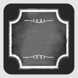 Customizable Blank Chalkboard Square Stickers