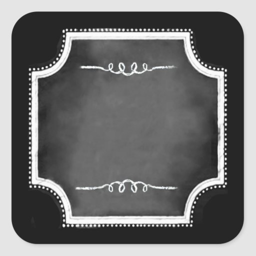 Customizable Blank Chalkboard Square Stickers