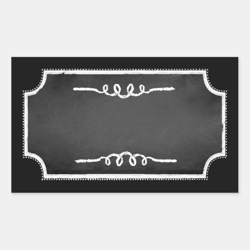 Customizable Blank Chalkboard Sticker Labels