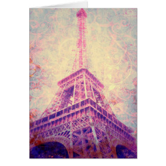 Customizable Blank Eiffel Tower Art Greeting Card