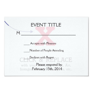 "Customizable Blank Gift Template 3.5"" X 5"" Invitation Card"