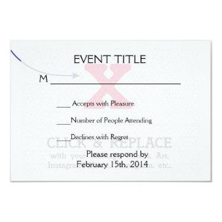 "Customizable Blank Gift Template 3.5"" X 5"" Invitation Card"