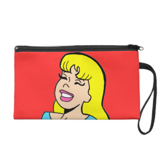 Customizable Blond Bombshell Comic Strip Wristlet