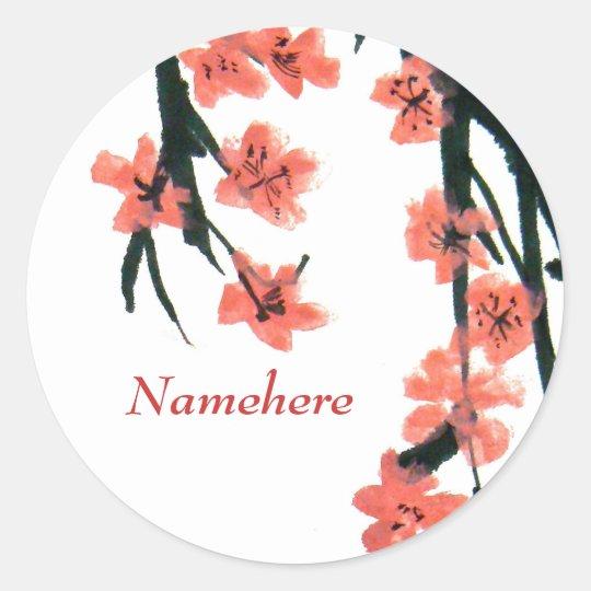 Customizable: Blossom Classic Round Sticker
