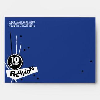 Customizable Blue 10 Year Class Reunion Envelope