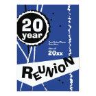 Customizable Blue 20 Year Class Reunion Invitation