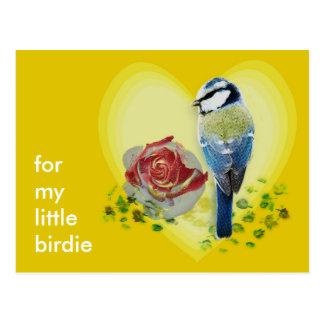Customizable: Blue birdie Postcard