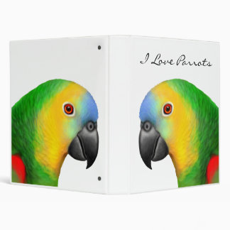 Customizable Blue Fronted Amazon Parrot Avery Bind 3 Ring Binder
