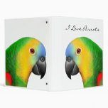 Customizable Blue Fronted Amazon Parrot Avery Bind Binder