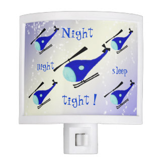 Customizable blue Helicopter Nite Lites