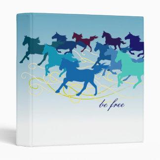 Customizable: Blue horses Binder
