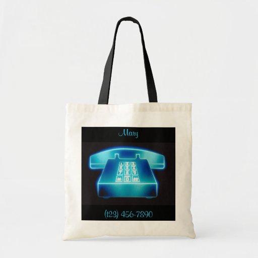 Customizable Blue Phone Bags