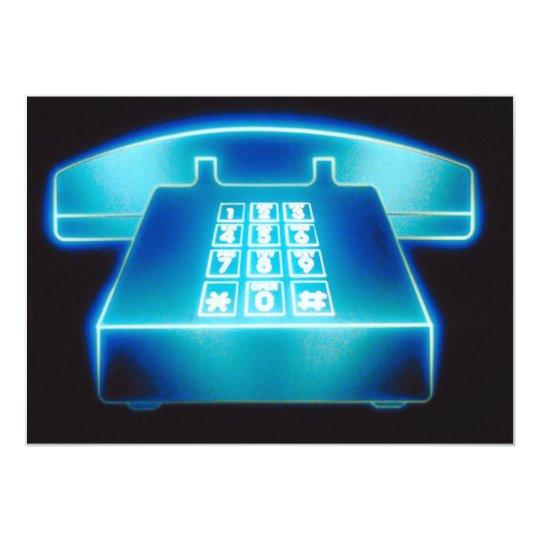 Customizable Blue Phone Invitations