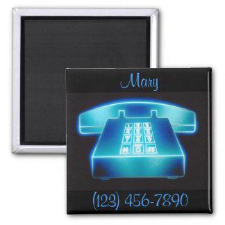 Customizable Blue Phone Magnet