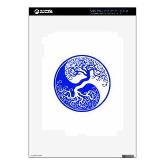Customizable Blue Tree of Life Yin Yang iPad 3 Decal