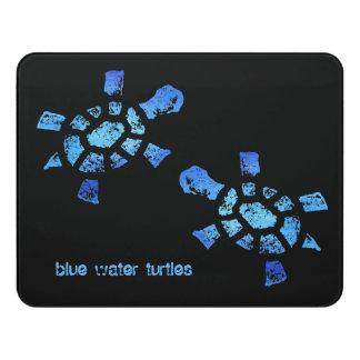 Customizable Blue Water Turtle Door Sign
