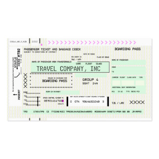 Customizable Boarding Pass Double-Sided Standard Business Cards (Pack Of 100)