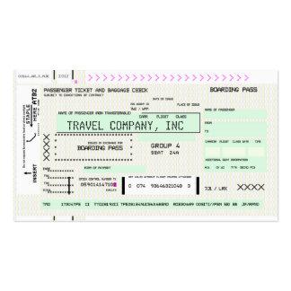 Customizable Boarding Pass Business Cards
