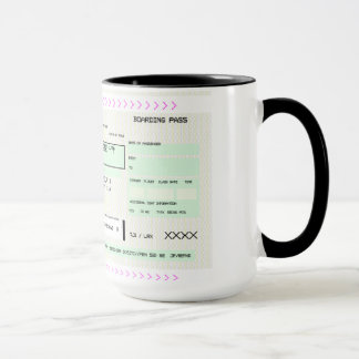 Customizable Boarding Pass Mug