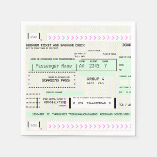 Customizable Boarding Pass Napkin