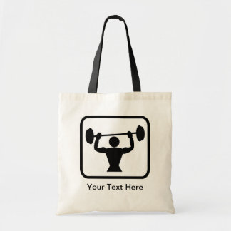Customizable Bodybuilder / Weightlifter Logo Tote Bag