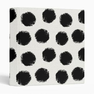 Customizable Bold Grunge Polka Dot 3-Ring Binder
