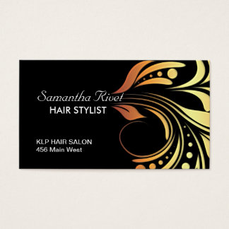 Customizable Bold Salon Business Card