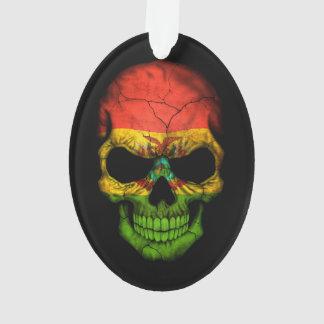 Customizable Bolivian Flag Skull Ornament