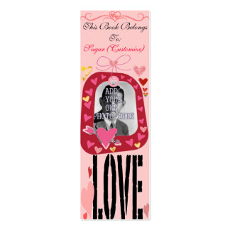 Customizable Book Markers - Love - Add Your Photo Mini Business Card
