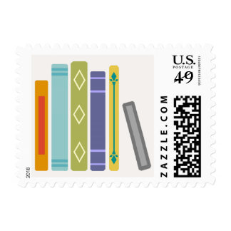 Customizable Book Themed Unisex Postage Stamps