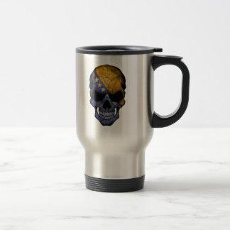 Customizable Bosnian Flag Skull Travel Mug