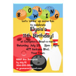 Customizable Bowling Birthday Party Invitations